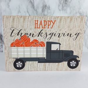 Belle Maison Happy Thanksgiving Truck Box Sign H14